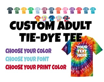 Tie Dye Shirt Etsy