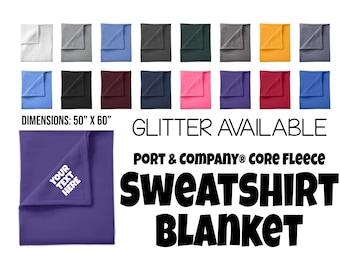 Fleece Sweatshirt Blanket, Custom Blanket, Personalized Blanket, Stadium Blanket, Personalized Throw