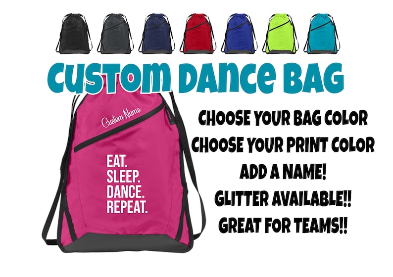 5423823e43d4 Custom Cinch Sack Team Bag Personalized Bag Dance Bag