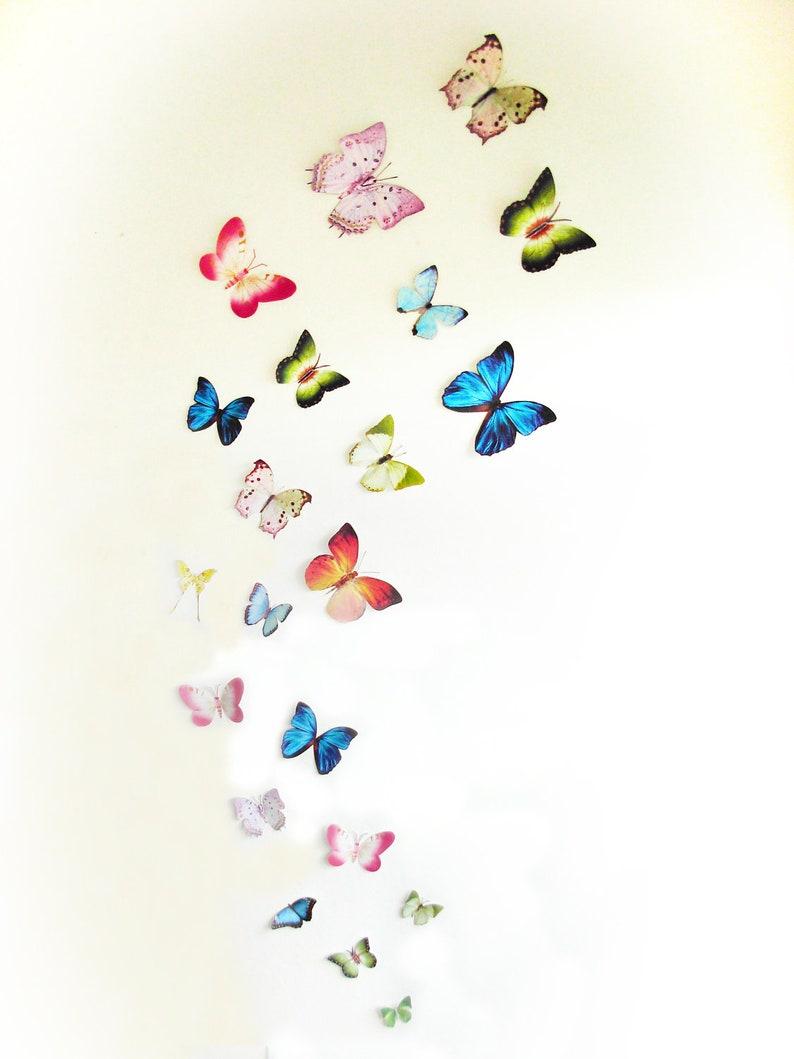 3D Wand Schmetterlinge 3D Schmetterling Wand-Kunst   Etsy
