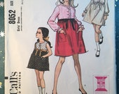McCall 39 s 8052 COMPLETE vintage sewing pattern for girls dress Size 6 Copyright 1965