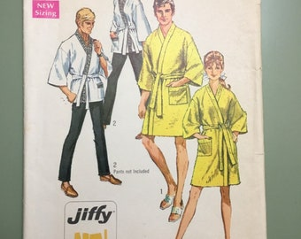 e35180c75e Simplicity 8256 UNCUT vintage sewing pattern for Kimono Robe or Hopi Coat  Misses Size 12