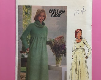 Butterick 5517 Sewing Pattern for 1930s Dress with V or Asymmetrical Button Back UNCUT