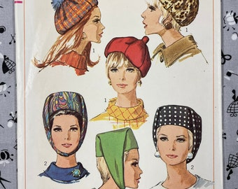 Simplicity 7326 UNCUT Vintage Sewing Pattern for Misses Hats One Size