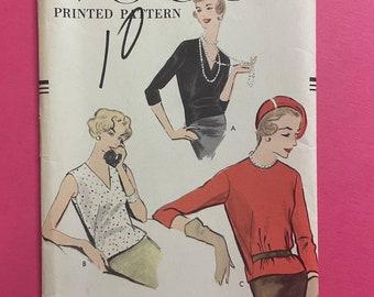Vogue 9380 UNCUT Vintage Sewing Pattern for Misses Blouse Bust 31