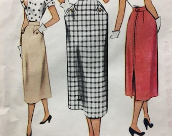 McCalls 8159 UNCUT vintage sewing pattern Skirt waist 24 inches Copyright 1950