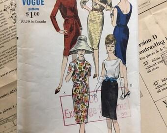 Vogue 5997 COMPLETE vintage sewing pattern for Misses Dress 5 versions Size 13 Bust 32
