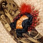 ON SALE- Harlem Goddess Mixed Media brooch