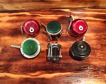 Vintage Lot Bait Cast and Fly Fishing Fish Reels / 6 Reels