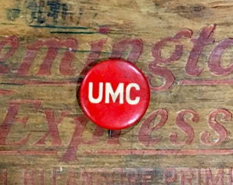 Remington UMC (Union Metallic Cartridge Co) Advertising Pinback Button / Antique / Vintage