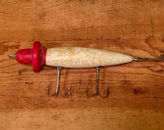 Antique Woodpecker Fishing Lure / Wooden South Bend