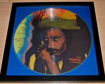 Reggae Legend Bob Marley Framed Vinyl Picture Disc LP / Album / Record
