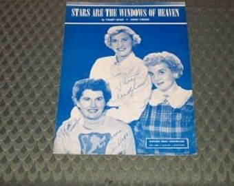 Vintage Sheet Music-Stars Are The Windows of Heaven