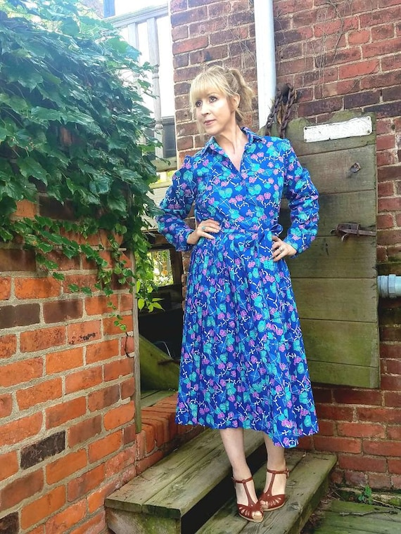 Vintage 60s 70s Lilly Pulitzer The Lilly dress butterfly kite print turquoise blue purple green