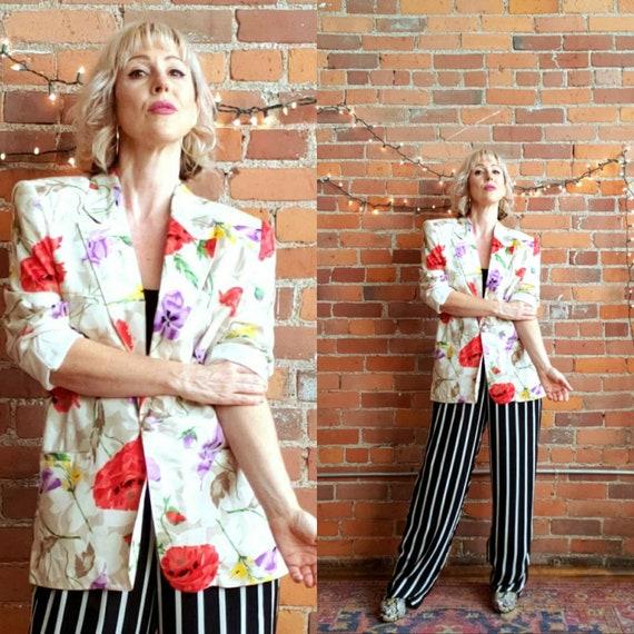 vintage 80s Evan Pacone blazer bold shoulders flor