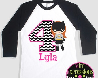 Batgirl Birthday Shirt Personalized Just For You Any Age And Name
