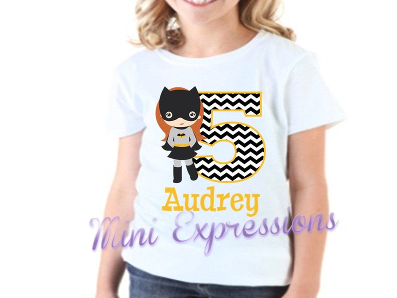 Batgirl Birthday Shirt Personalized