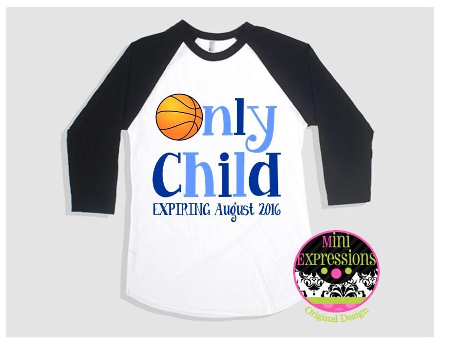 Only Child Expiring Raglan Shirt Pregnancy Announcement Tshirt Unisex Tshirt