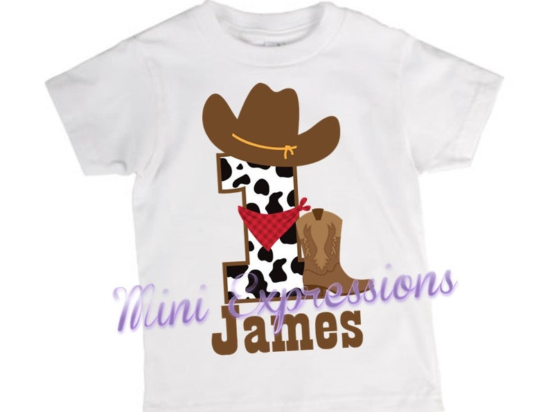 418098b44 Cowboy Birthday shirt or onesie Personalized just for you   Etsy