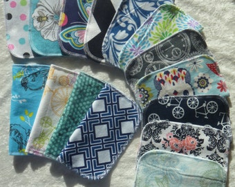 20 Adult Style Mixed Print, Reusable Cloth Napkins, Eco-Friendly