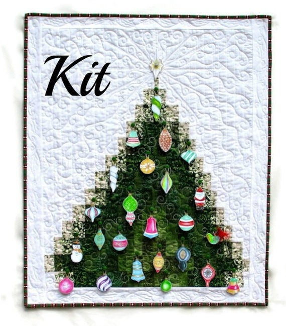 Kit to make a bargello Christmas Tree advent calendar quilted wall hanging