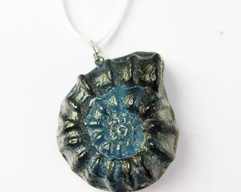 Ammonite Cast Glass Ornament Suncatcher