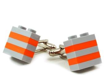 ROTTERDAM striped cufflinks made with LEGO® bricks FREE shipping gift idea