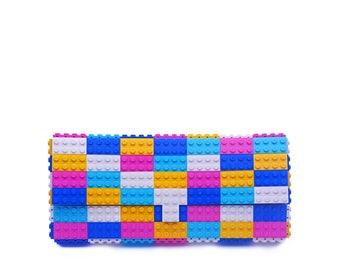 Candy multicolor clutch purse - bulk version - made with LEGO® bricks FREE SHIPPING purse handbag legobag trending fashion