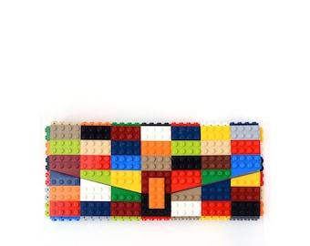 Custom Multicolor clutch bulk purse made with LEGO® bricks FREE SHIPPING purse handbag legobag trending fashion
