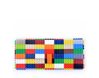Multicolor clutch purse - bulk version - made with LEGO® bricks FREE SHIPPING purse handbag legobag trending fashion