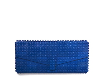 Dark blue clutch purse made with LEGO® bricks FREE SHIPPING purse handbag legobag trending fashion