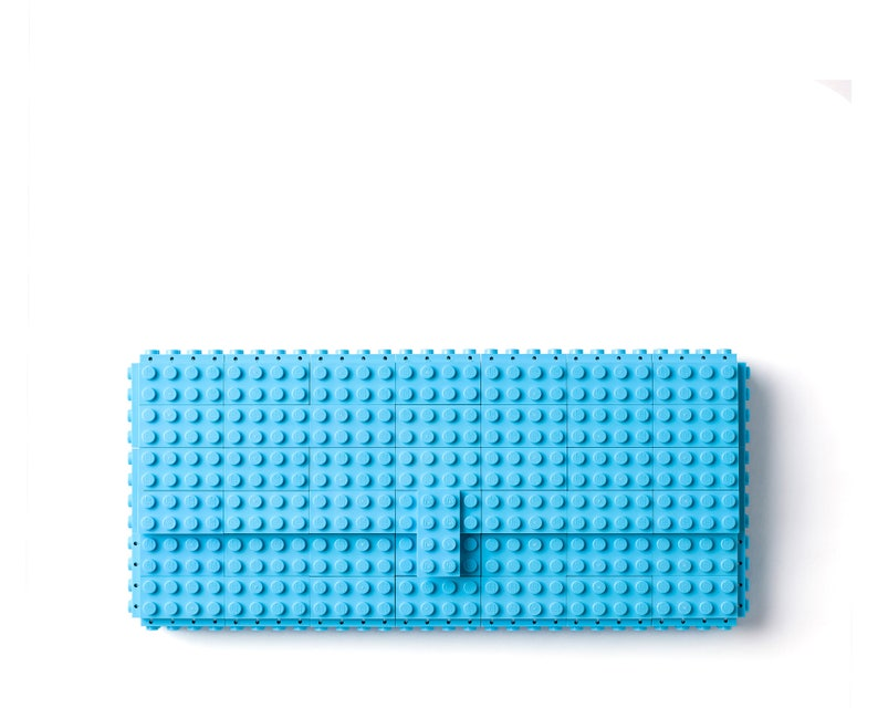 3ac819e1d6 Azure clutch purse made with LEGO® bricks FREE SHIPPING purse | Etsy