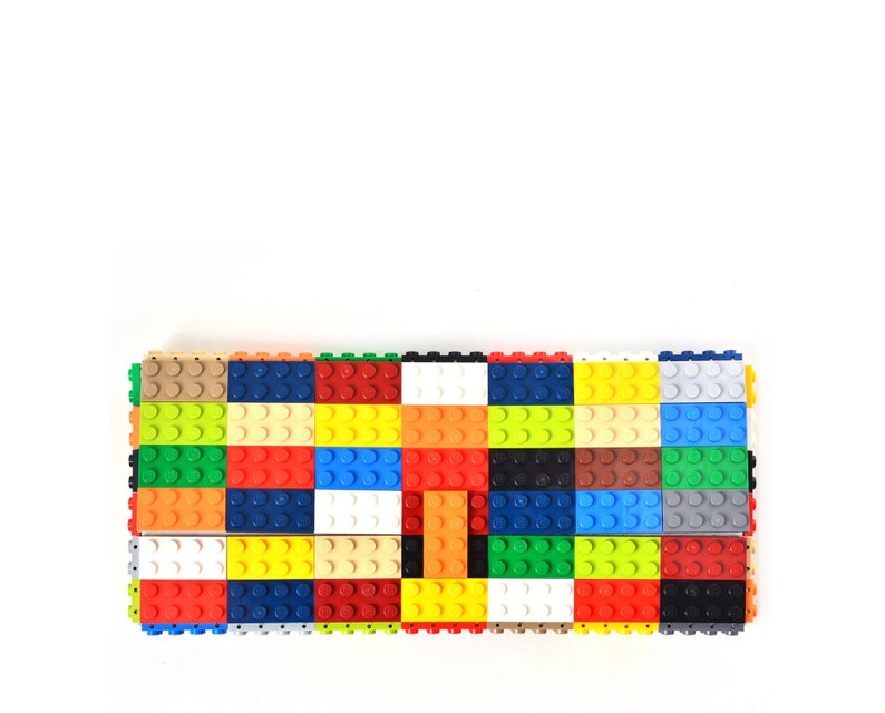 c02407ea48 Multicolor clutch purse made with LEGO® bricks FREE SHIPPING | Etsy