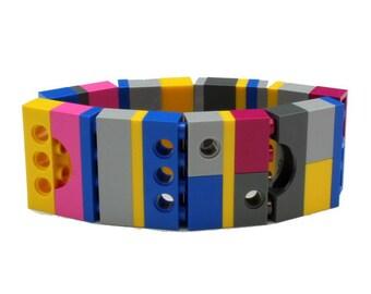 BRUXELLES wide bracelet made with LEGO bricks