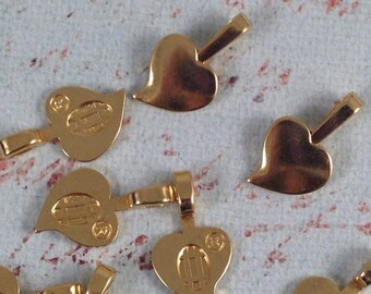 10pc Gold Plated BailsGlue Pads Necklace Finding Jewelry Finding Ships from USA 21x7mm B25 DIY Jewelry Making Supplies