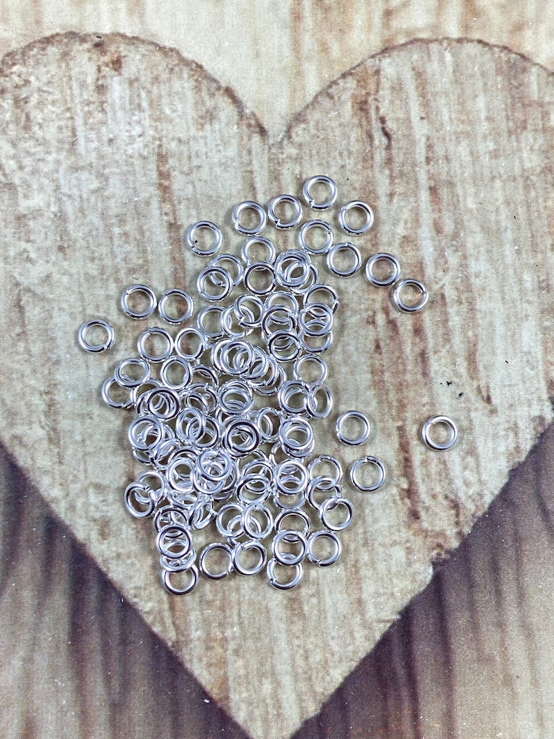 150 Shiny Silver Jump Rings 5mm C17 Qty 150 18 Gauge Open  Close Jump rings Silver Plated Brass Jump Rings