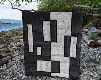 Zen Garden  Quilt Pattern - Modern quilt pattern, Contemporary quilt pattern, Taupes quilt pattern