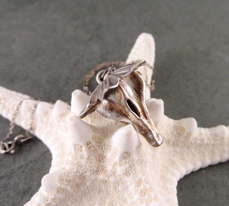 Silver flower pod pendant handmade recycled fine silver Pear tree pod necklace-OOAK