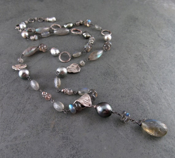 handmade recycled fine silver .999 locket necklace-OOAK Mailbox pendant