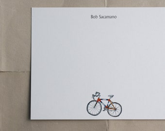 Gift Box of Cycle Race Thank You Note Cards BICYCLE RIDE Custom Bike Stationary Notecards Personalized Letter Writing Stationery Set