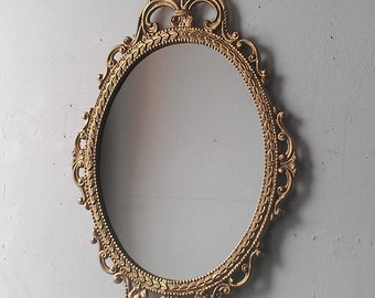 e1340f44524 Gold Mirror in Vintage Oval Frame
