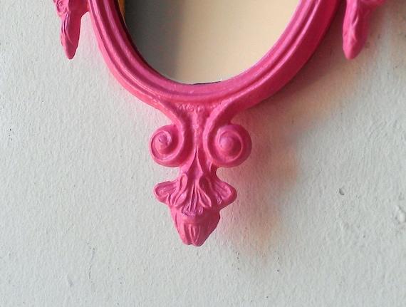 Small Pink Mirror Vintage Frame Cubicle Mirror Pink Nursery