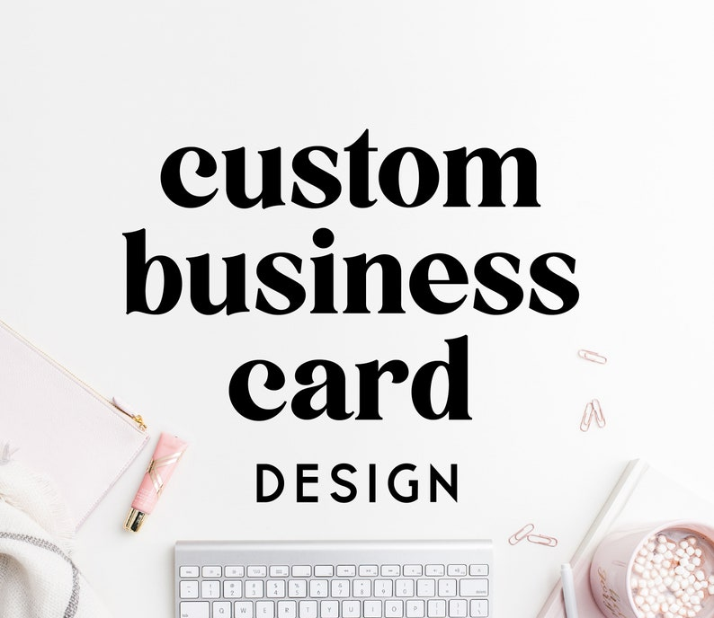 Custom Business Card Design  Personalised Business Card image 0