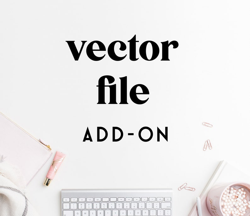 Vector File Add on for a Single Logo or Package  Ai Pdf image 0
