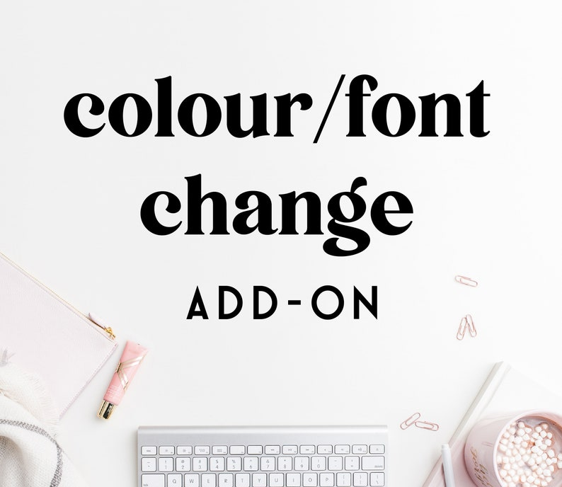 COLOUR / FONT change add on for premade logo designs Small image 0