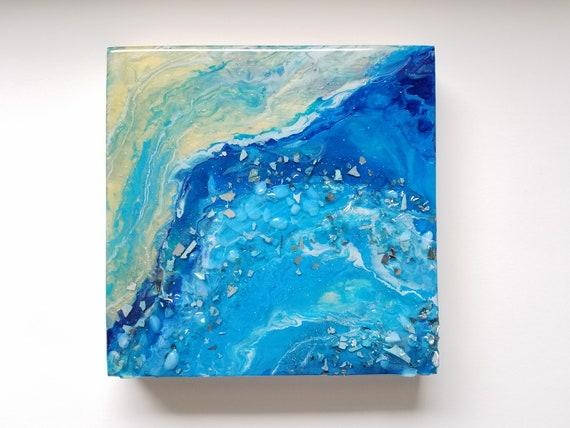 Beach Wall Art Beach Resin Wall Decor Bathroom Art Opals Etsy