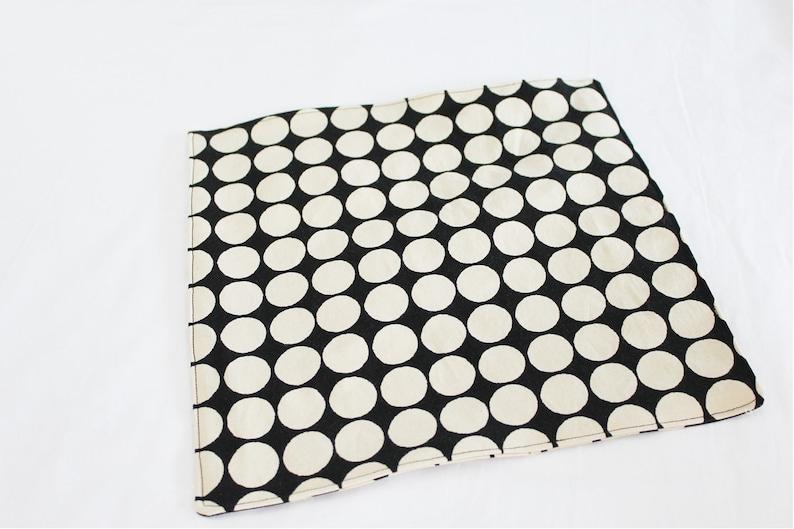 small Retro Black and Cream Dot Waterproof Changing Pad