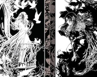 Light and Shadow -Special Edition- Original Fantasy Art Print Set