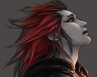 "Kingdom Hearts Axel Lea art print ""Heartless"""