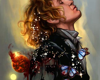 """Doctor Who art print: """"Rose With a Thorn"""""""